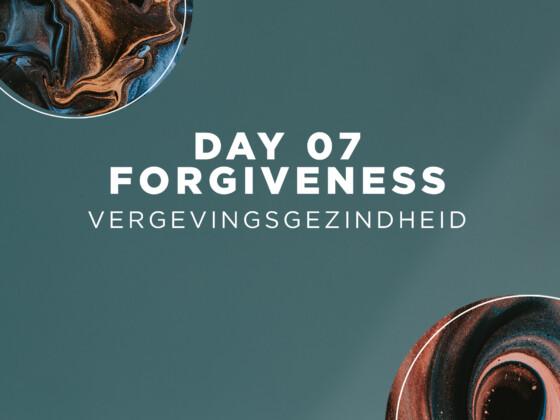 DAG 07 | Vergevingsgezindheid 8